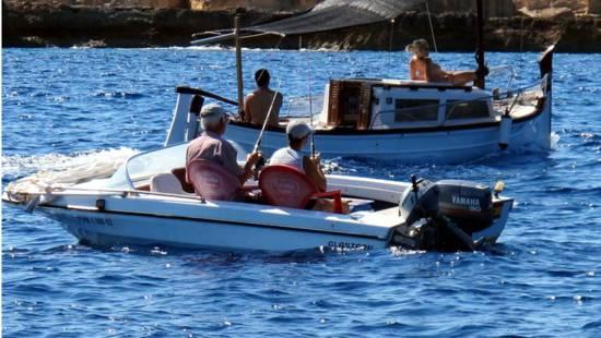 En Ibiza de pesca